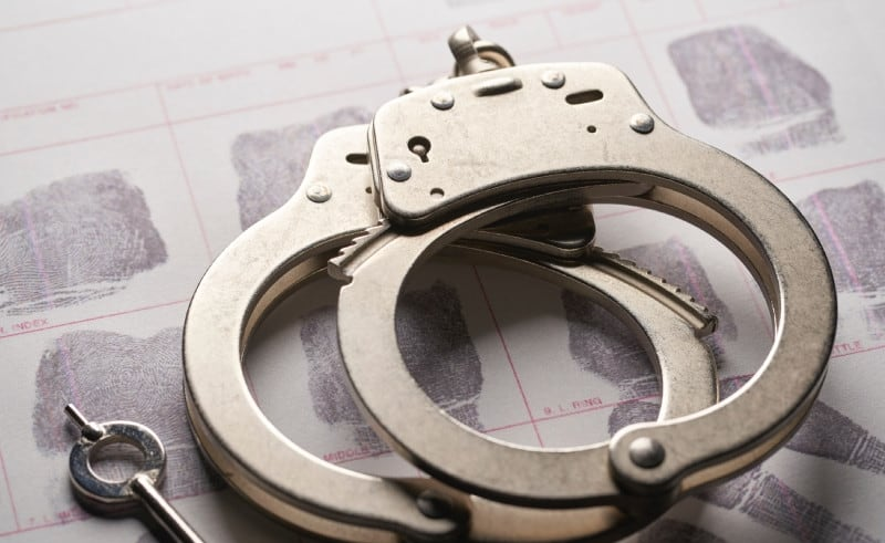 handcuff used for arresting people
