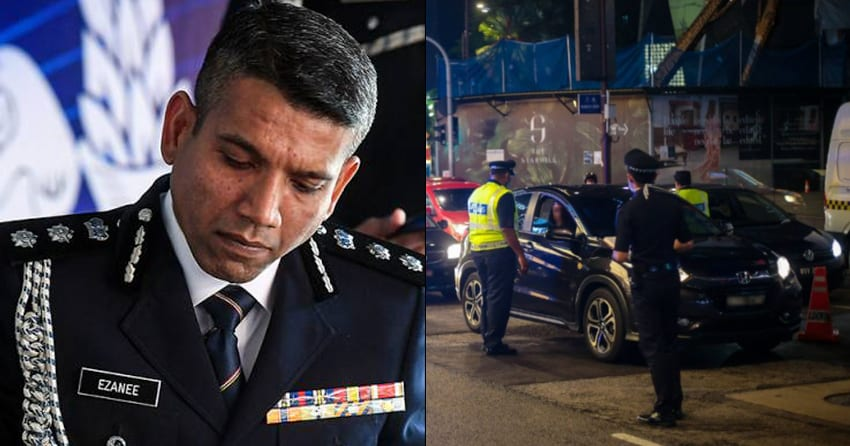 PDRM Officer at MCO roadblock arrested for allegedly raping 2 women