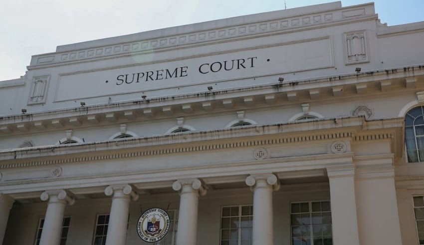 The Supreme Court building located in Manila