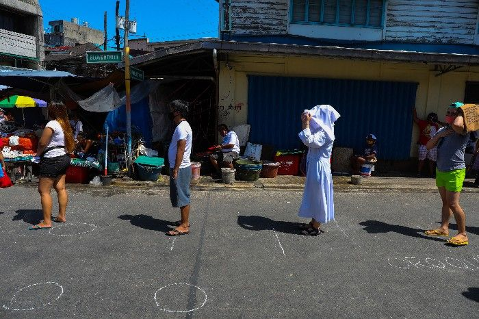 Social Distancing maintained in Philippines