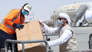 UAE support indonesia by sending Covid19 medical supplies