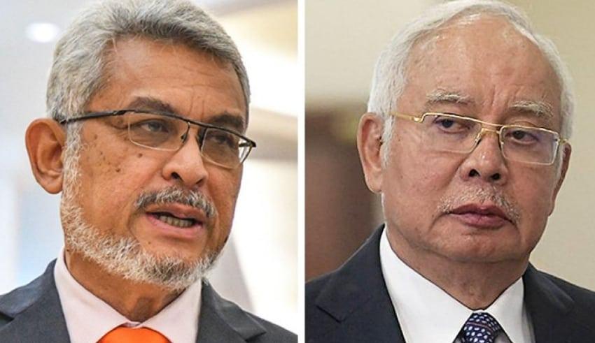 Former FT minister Khalid Samad and former prime minister Najib Razak