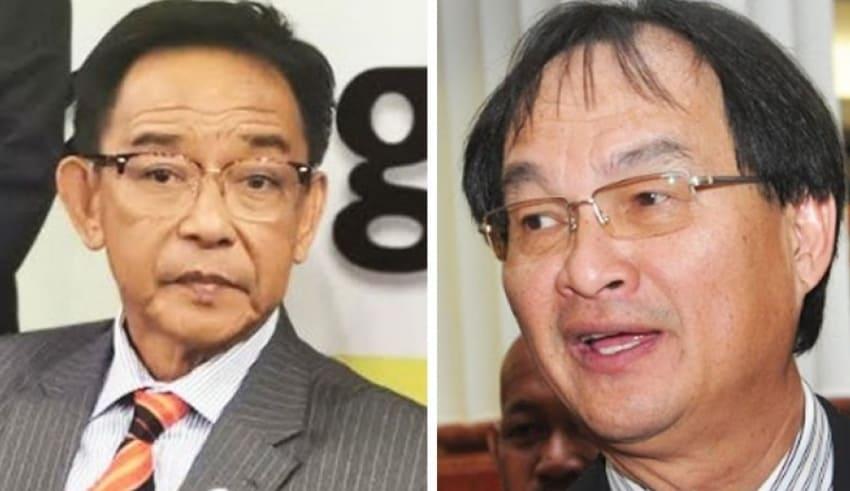 Sarawak PBB vice-president Abdul Karim Rahman Hamzah and Baru Bian