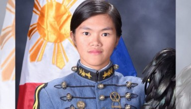 Cadet First Class Gemalyn Sugui emerged at the top of the male-dominated Philippine Military Academy