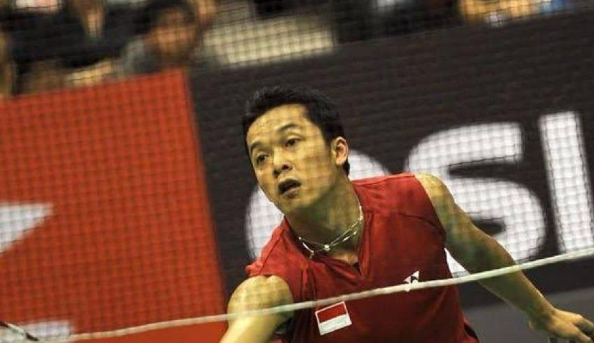 Indonesia Olympic medalist Taufik Hidayat were playing Badminton
