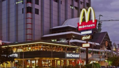 McDonald's first opened in Sarinah Thamrin, Indonesia