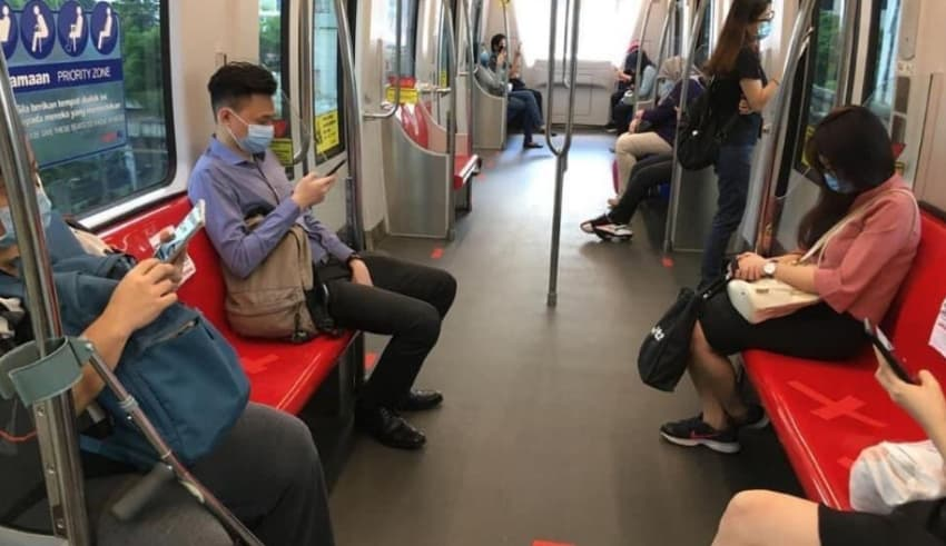 Malaysian People have been maintaning Social Distance in Transportation