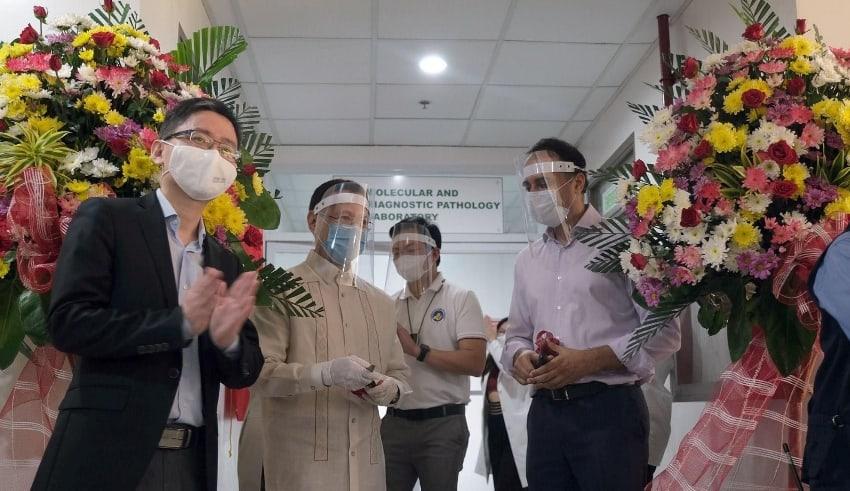 China open Covid19 testing lab in Pampanga