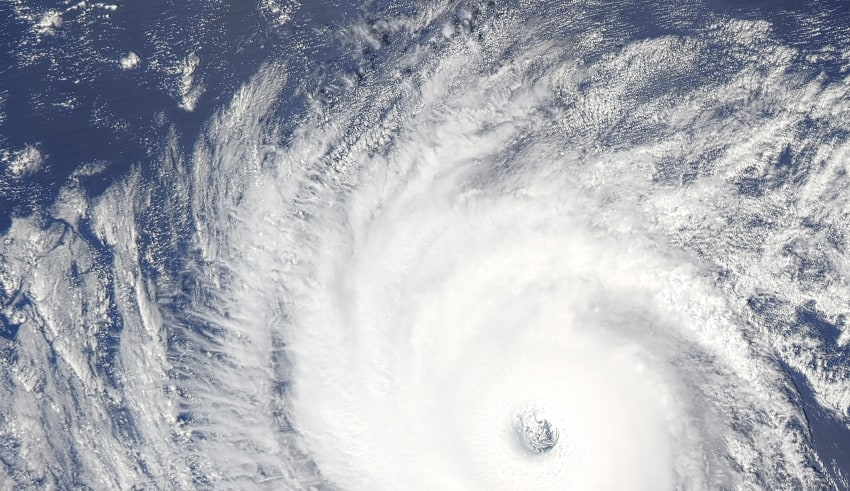 Image of typhoon pictured by NASA