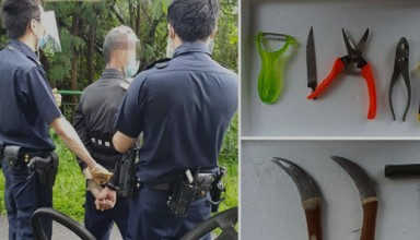 Singpore 61 year old man arrested for attempt murder
