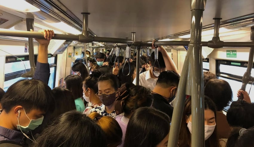 After lifting Thailand covid19 Lockdown, people forgot social distancing