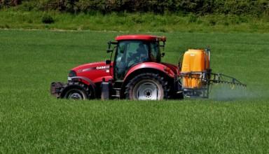 Farmer threw pesticide on the field