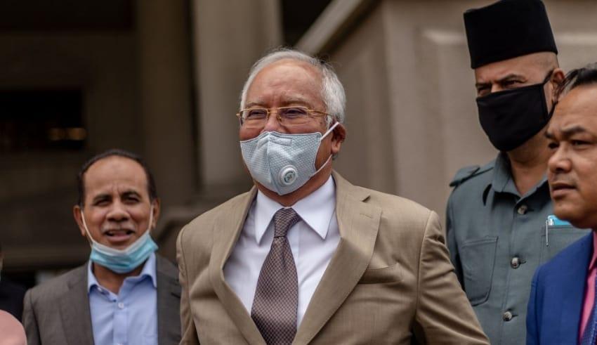 Datuk Seri Najib Razak is seen leaving the Kuala Lumpur High Court