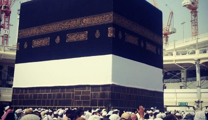 People gathered near Haji
