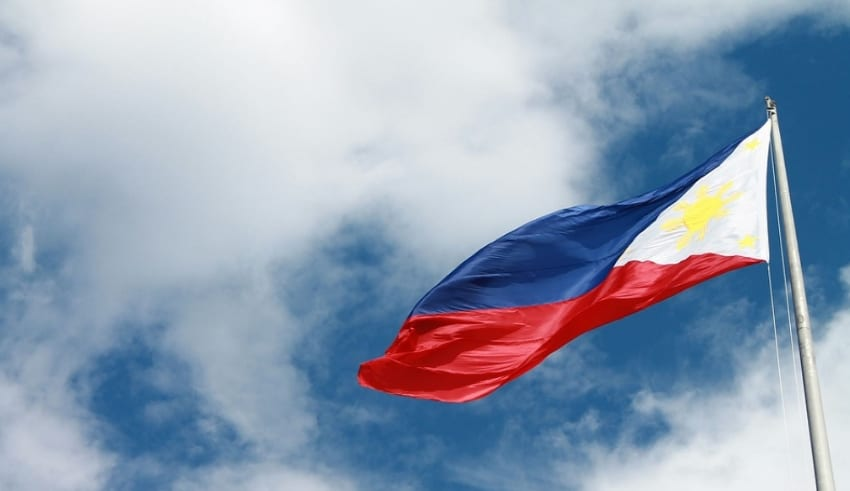 Philippines Flag shuttles in the air