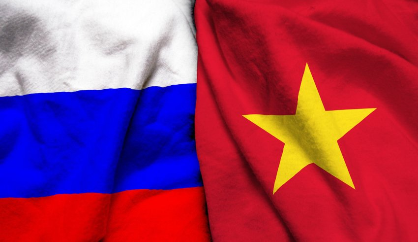 Russia and Vietnam flag together