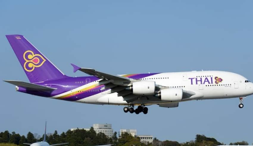 Thai Airways airport took off at thailand airport