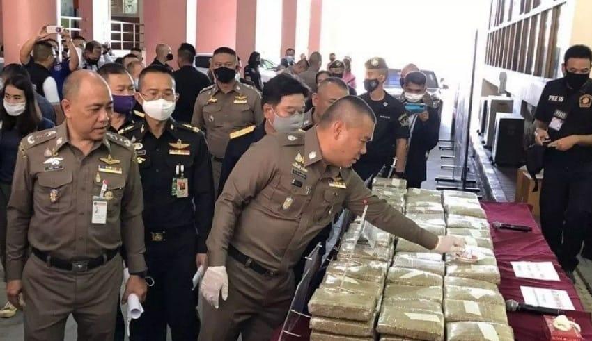 Narcotics suppression police in Thailand have landed a huge drugs haul