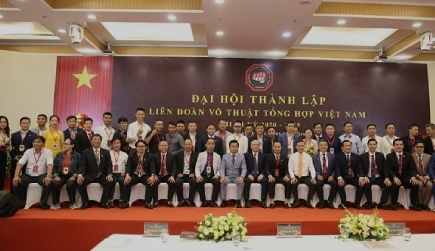 The members of Vietnam Mixed Martial Arts Federation's Executive Board