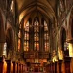 Interior work of Catholic church