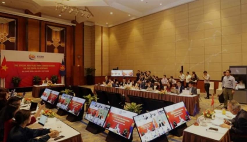 online meeting between economic ministers in Southeast Asia
