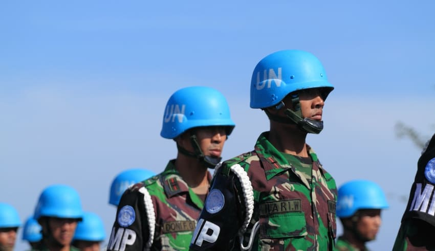 Indonesian peacekeeper