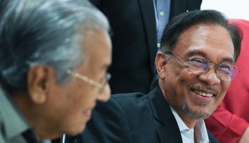 Mahathir Mohamad and Anwar Ibrahim