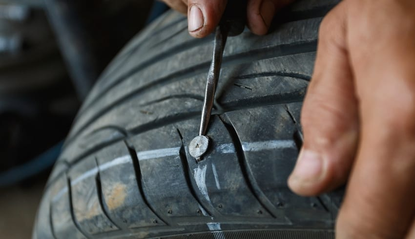 Punctured Tires warning in Thailand