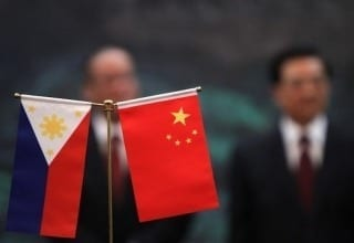 China and Philippine Flag