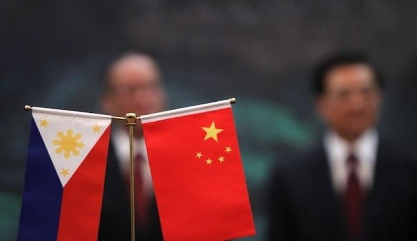 China and Philippine Flag