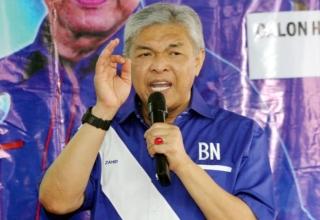 Barisan Nasional head Datuk Seri Ahmad Zahid Hamidi